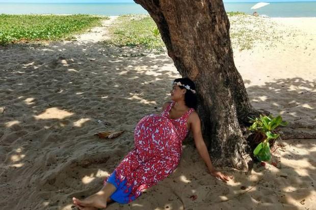 Imagens da nova grávida de Taubaté (Foto: Reprodução/Facebook)