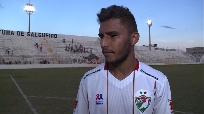 Willian Lira, Salgueiro  (Foto: Reprodução/ TV Grande Rio)