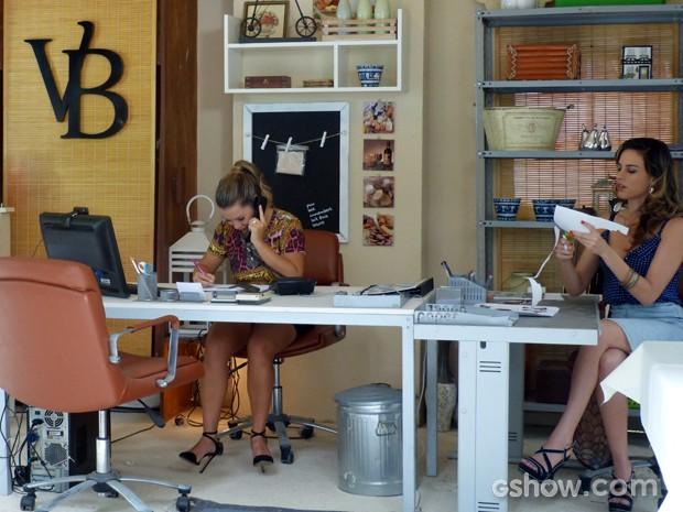 A sociedade trabalho com empenho nas encomendas (Foto: Malhação / TV Globo)
