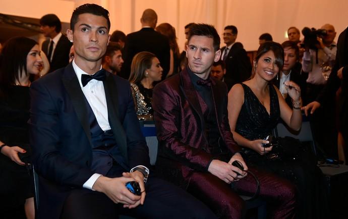 Cristiano Ronaldo Lionel Messi Bola de Ouro (Foto: AFP)