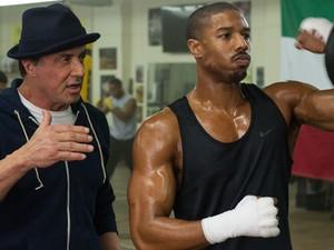 Sylvester Stallone e Michael B. Jordan em 'Creed: Nascido para lutar'