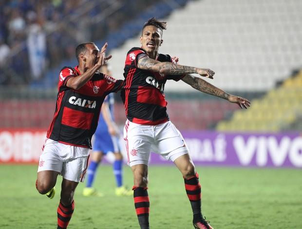 Guerrero comemoração Flamengo x Cruzeiro