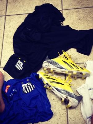 Felipe Anderson faz primeiro treino do ano pelo Santos (Foto: Reprodução / Instagram)