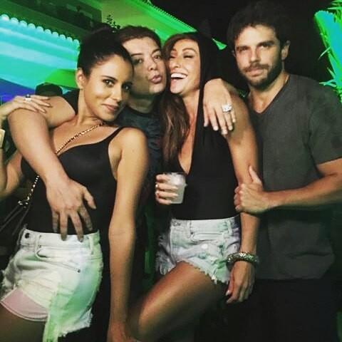 Marina Morena, David Brazil, Sabrina Sato e Duda Nagle (Foto: Reprodução/Instagram)