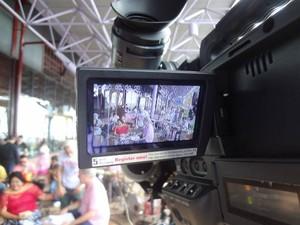 Chico Pinheiro Dona Onete Programa Sarau Belém Pará (Foto: Natália Mello/G1)