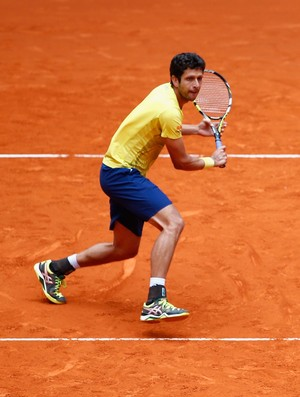 Marcelo Melo e Ivan Dodig na semifinal do Masters 1000 de Madri (Foto: Getty Images)