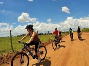 Cicloturismo reúne apaixonados por bike (Foto: Secretaria de Turismo/Divulgação)