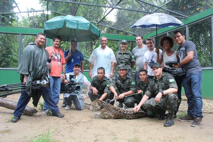 Equipe do 'Zapp' acompanha bastidores do 'Mais Você' em Manaus (Foto: Katiúscia Monteiro/ Rede Amazônica)