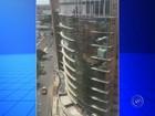Trabalhador é flagrado arriscando a vida em prédio em construção