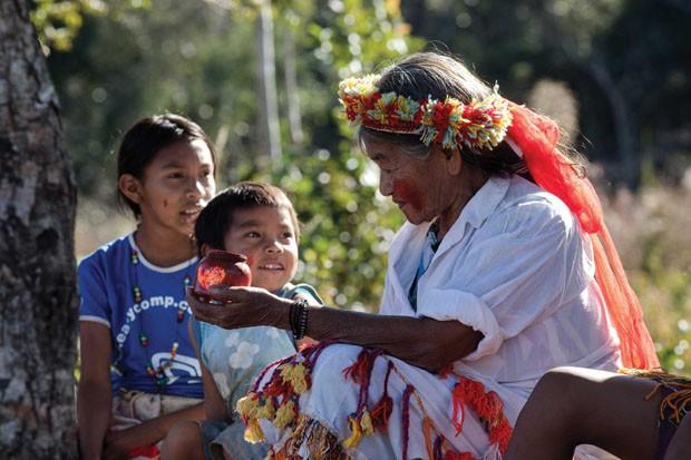 Guarani fazem mapa digital apontando seu território (Foto: Divulgação)