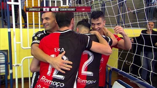 Com pintura de Jackson e virada, Joinville goleia o Corinthians por 7 a 2