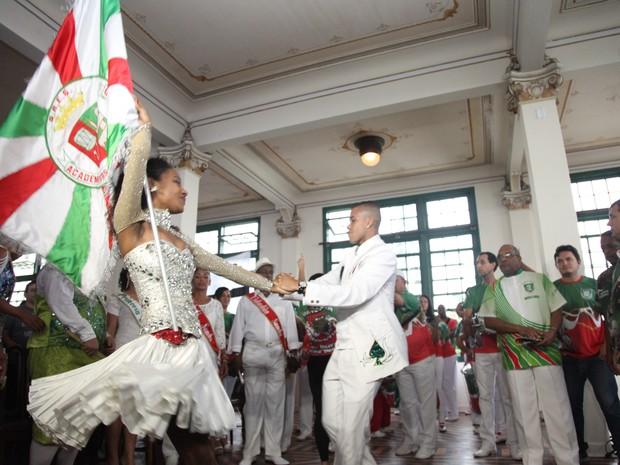 Integrantes da Grande Rio já estiveram em Santos, no início do ano (Foto: Divulgação / Prefeitura de Santos)