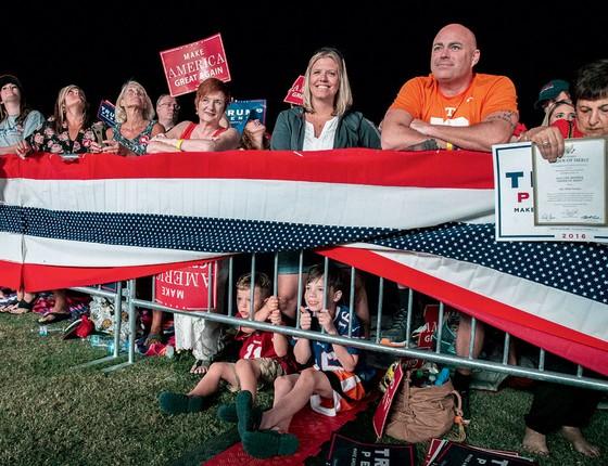 Eleitores de Trump.Ressentidos eles fizeram de trump sua voz contra as mudanças (Foto:  Mark Wallheiser/Getty Images/AFP)