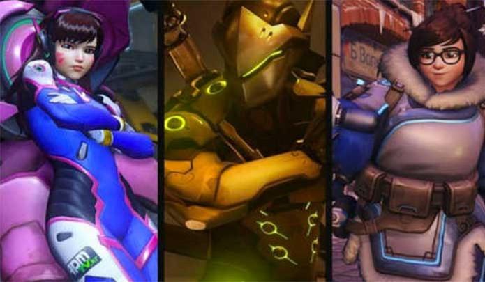 D.Vah, Genji e Mei formam o trio asiático de Overwatch (Foto: Divulgação/Blizzard)