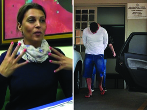 Montagem de fotos Evandro e Edelvânia Wirganovicz acusados no caso do menino Bernardo (Foto: Reprodução/RBS TV)