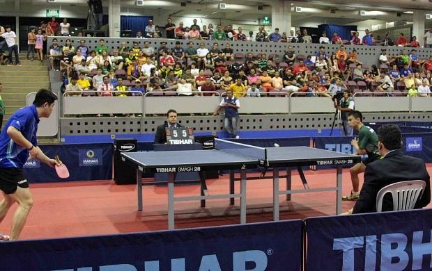 Cazuo Matsumoto Hugo Calderano tênis de mesa manaus (Foto: Antônio Lima/Semdej)