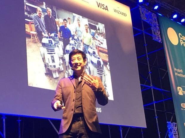 Grant Imahara, engenheiro que ajudou a criar o robô R2D2, de 'Star wars' (Foto: Helton Simões Gomes / G1)