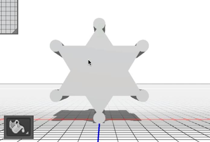 Ferramenta de projeção de material 3D (Foto: Reprodução/André Sugai)