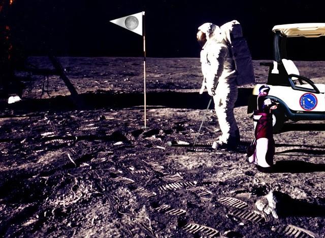 Golfe na lua (Foto: Reprodução/TV)