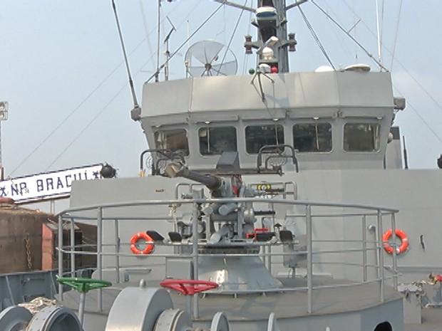 Dia do Marinheiro é celebrado dia 13 de dezembro. Navio ficará aberto para visita de 10h às 18h. (Foto: Reprodução/Tv Tapajós)