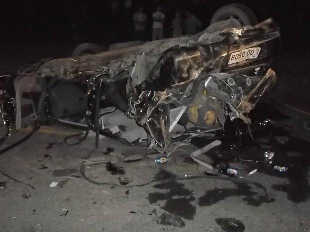 Três morreram em acidente, em Meleiro (Foto: Polícia Militar/Divulgação)