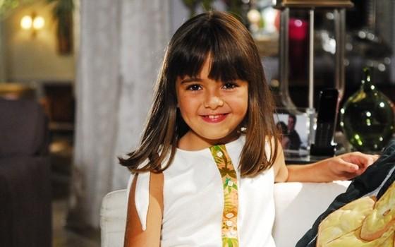 Klara fez sua primeira novela, Viver a vida, aos 7 anos. Ela conquistou o país na época  (Foto: TV Globo)