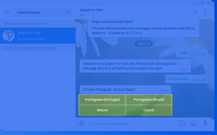 Definindo o idioma como Português Brazil (Foto: Felipe Alencar/TechTudo)