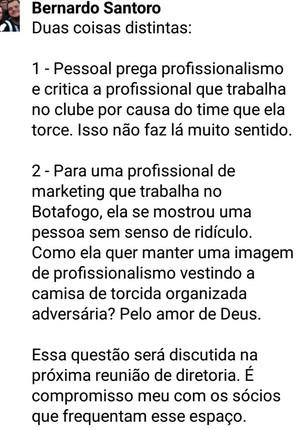Bernardo Santoro, vice de finanças do Botafogo (Foto: Reprodução / Facebook)