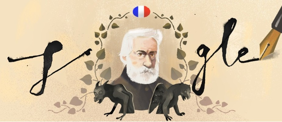 Resultado de imagem para Victor Hugo doodle