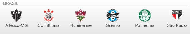 info Classificados e Vagas Libertadores 2013 - BRASIL (Foto: arte esporte)