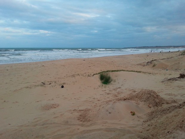 Afogamento aconteceu na praia de Búzios, no litoral Sul do RN (Foto: Kléber Teixeira/Inter TV Cabugi)