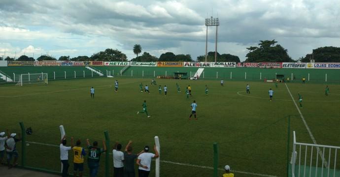 Tocantinópolis e Sparta empataram no estádio Ribeirão (Foto: Felipe Maranhão/TV Anhanguera)
