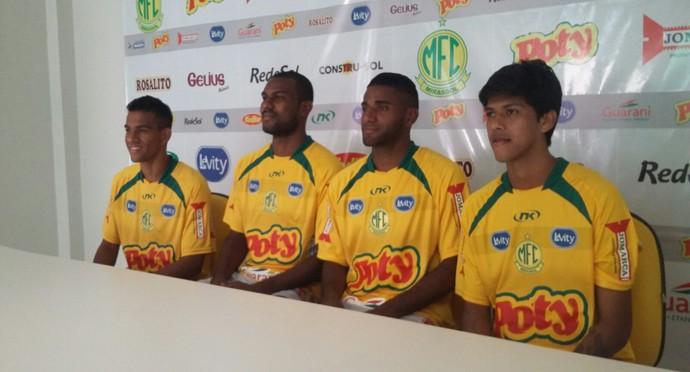 Reforços do Mirassol para a Copa Paulista (Foto: Vinicius de Paula / Mirassol FC)