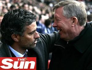Mourinho e Ferguson (Foto: Reprodução / The Sun)