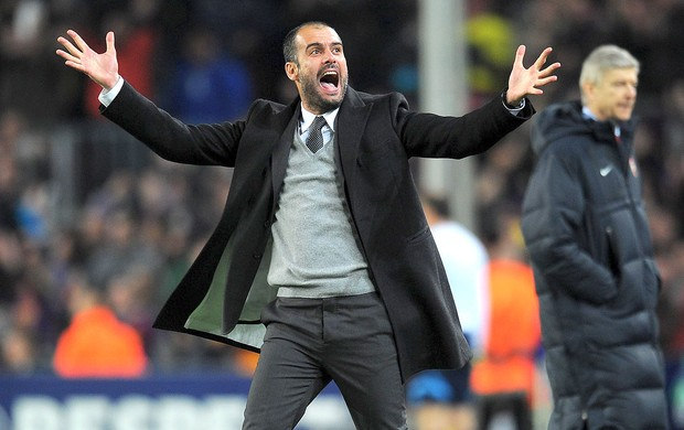 Guardiola técnico (Foto: AFP)