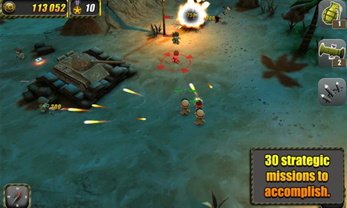 Tiny Troopers é um divertido game para Windows Phone onde jogador comanda tropas militares (Foto: Divulgação/Windows Phone Store)