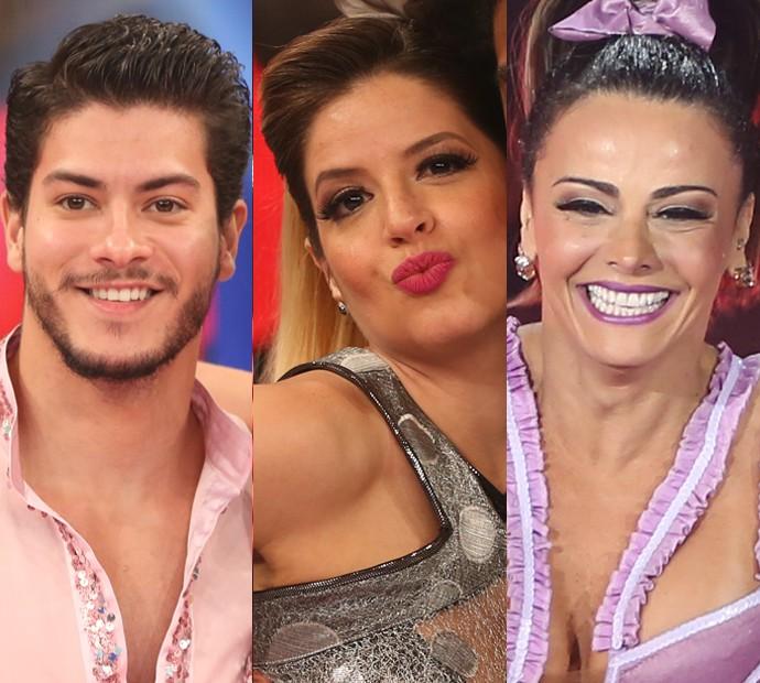 Arthur Aguiar, Mariana Santos e Viviane Araújo escolhem suas apresentações inesquecíveis no Dança dos Famosos 2015 (Foto: Carol Caminha/Gshow)