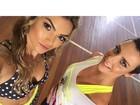 Kelly Key mostra abdômen trincado em foto com Camila Rodrigues