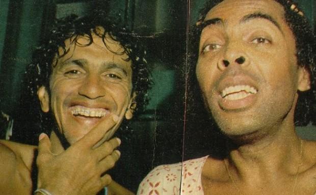 Caetano e Gil - selfie (Foto: Reproduo)