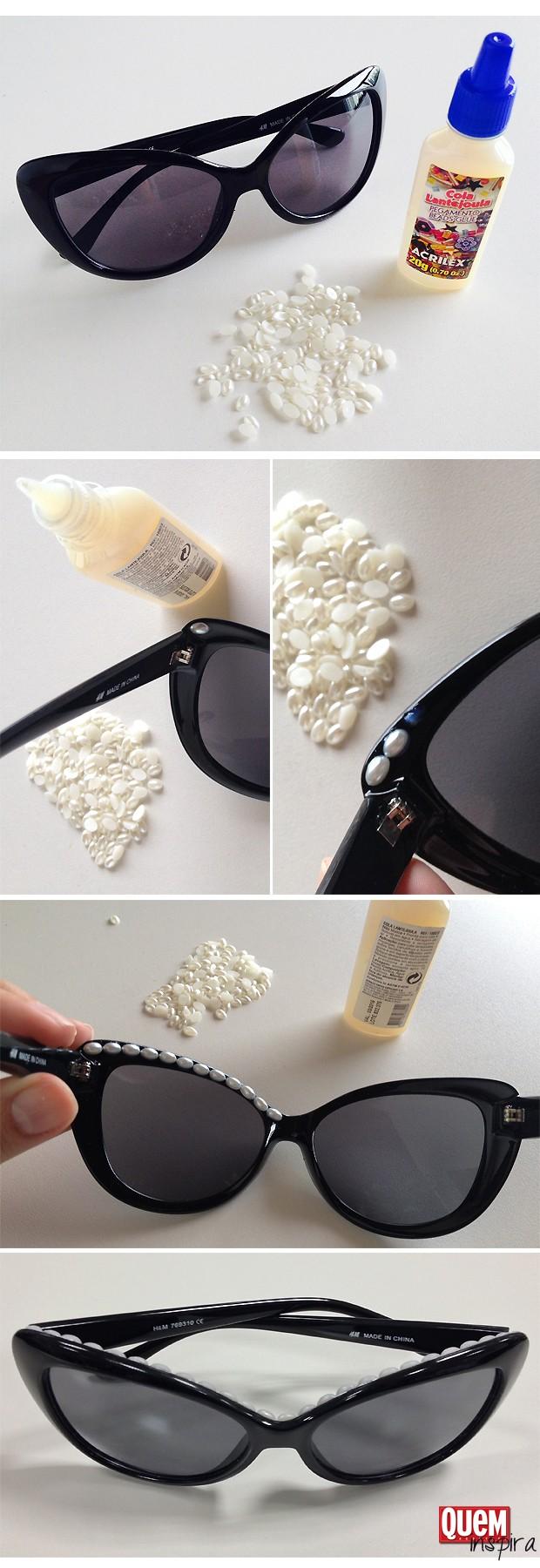 Passo a passo: óculos perolado da Chanel (Foto: QUEM Inspira)