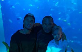Neymar posta foto com Davi Lucca no aniversário de cinco anos do herdeiro