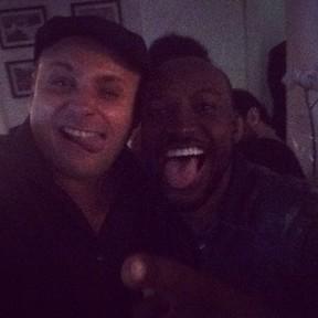 Léo Fuchs e Thiaguinho em festa no Rio (Foto: Instagram/ Reprodução)