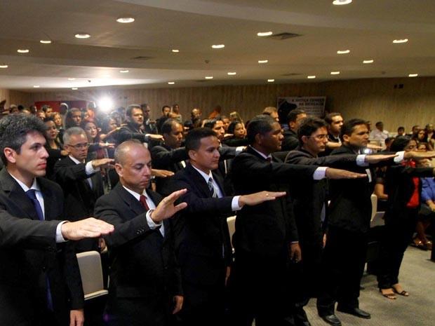 Setenta e nove policiais civis foram integrados às forças de Segurança Pública do MA (Foto: Gilson Teixeira/Secom)