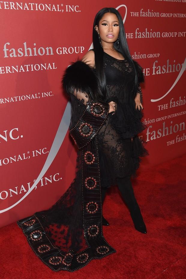 Nicki Minaj em festa em Nova York, nos Estados Unidos (Foto: Jamie McCarthy/ Getty Images/ AFP)