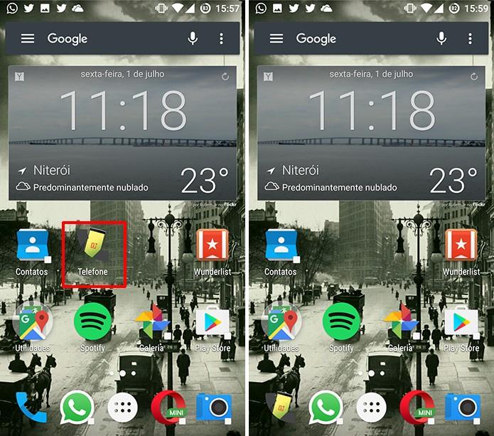Ícone personalizado do Android será incluído na tela inicial do sistema (Foto: Reprodução/Elson de Souza)