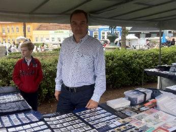 Denis Renaux, presidente da Sociedade Numismática Paranaense (Foto: Bibiana Dionísio/ G1 PR)