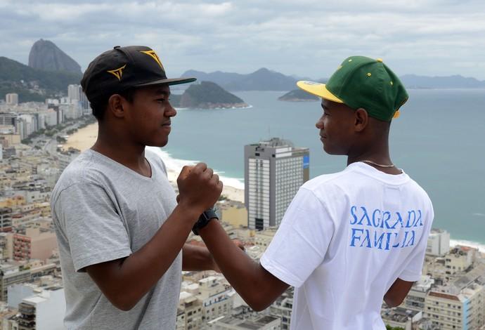 Promessas do bodyboard brasileiro, Sócrates Santana (16) e Matheus Bastos (17) disputam inédito título mundial pela categoria júnior (Foto: André Durão)