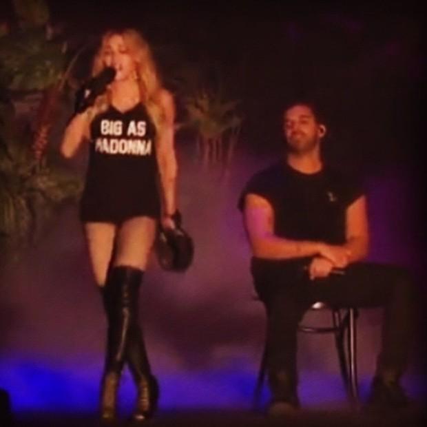 Madonna se apresenta com Drake no Coachella em Indio, na Califórnia, nos Estados Unidos (Foto: Instagram/ Reprodução)
