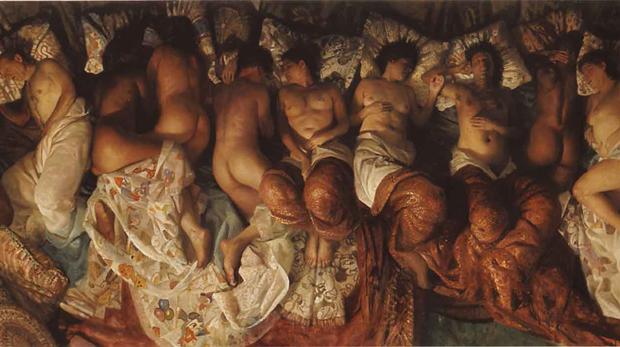 Parte da obra 'Sleep' de Vincent Desiderio (Foto: Reprodução)