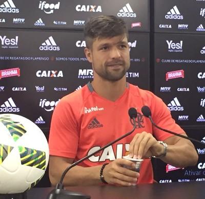 Diego entrevista coletiva Flamengo (Foto: Fred Gomes)